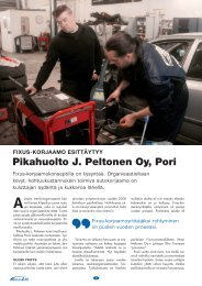 Pikahuolto J. Peltonen Oy, Pori - Fixus