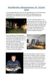 Jugendnachtfischen Alemannensee 19.-20- Juni 2010