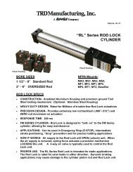 Rod Lock Cylinders