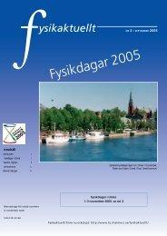 2005-3 - Svenska Fysikersamfundet