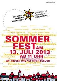 Sommerfest - Evangelische Jugendhilfe Friedenshort
