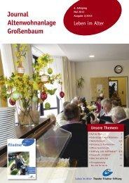 Journal Altenwohnanlage Großenbaum - Theodor Fliedner Stiftung