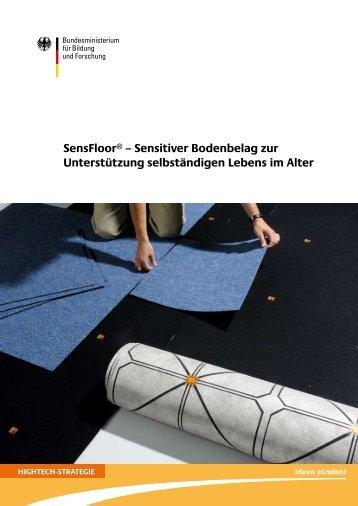 Sensitiver Bodenbelag zur Unterstützung ... - Future Shape