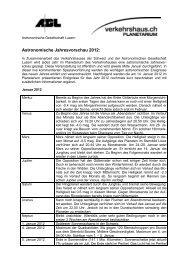 Jahresvorschau 2012 - Astronomische Gesellschaft Luzern