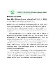 Læs pressemeddelelsen Spar 20 mia. kr. på vindkraft 2012 til 2020 i ...