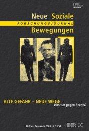 Vollversion (8.53 MB) - Forschungsjournal Soziale Bewegungen