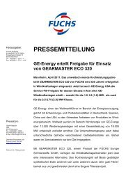 04-2011 - fuchs europe schmierstoffe gmbh