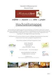 Hochzeitsmappe - Hotel Restaurant Forellenhof Rössle ...