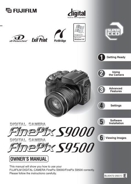 Finepix S9000 Finepix S9500 Manual Fujifilm Usa