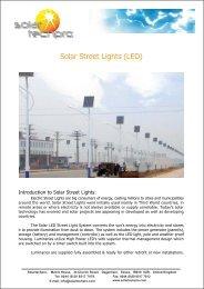 Solar Street Lights (LED)