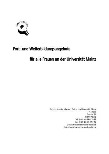 Fort- und Weiterbildungsangebote und Weiterbildungsangebote und ...