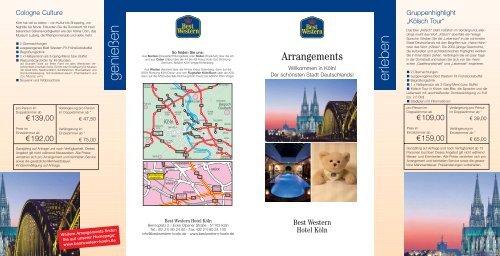 Arrangement Flyer Pdf Best Western Hotel Koln