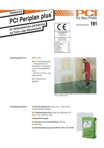 PCI Periplan Plus ( Ausgleichsmasse ) - Fliesen Lerche