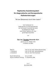 Haptisches Assistenzsystem für diagnostische und therapeutische ...