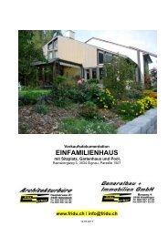 PDF-Dokumentation vom Einfamilienhaus... - Architekturbüro ...