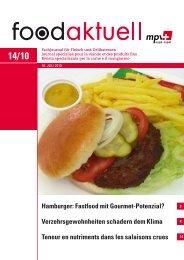 Hamburger: Fastfood mit Gourmet-Potenzial ... - Foodaktuell.ch