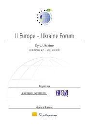 II Europe – Ukraine Forum - Economic Forum