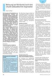 Reinräume Betreuung Wartung Inspektion FDA TGA Gebäudetechnik