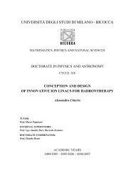 UNIVERSITÀ DEGLI STUDI DI MILANO - BICOCCA - C.R. ENEA ...