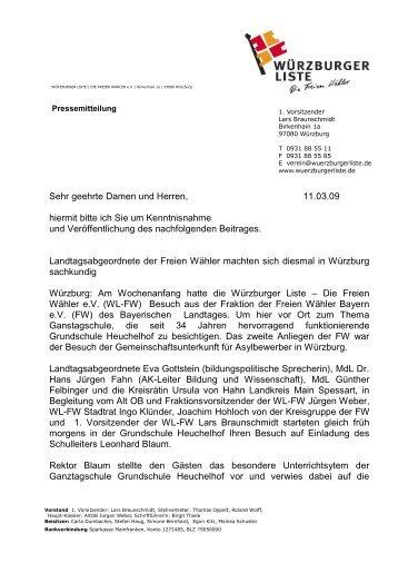 WÜ: Briefkopf mit Internet und E-Mail - Freie Wähler Oberbayern