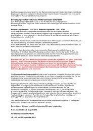 Informationen zum Eignungsfeststellungsverfahren