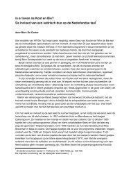 Is er leven na Koot en Bie - Fryske Akademy