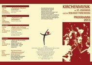 Jahresprogramm 2013 - St. Johannis