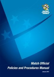 Match Official Policies and Procedures Manual - Football Federation ...