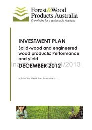 INVESTMENT PLAN DECEMBER 2012 - Forest and Wood Products ...