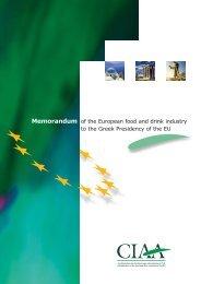 Memorandum def - FoodDrinkEurope