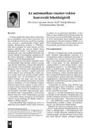 Elek István: Az automatikus raszter-vektor konverzió lehetoségérol