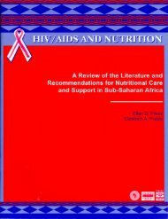 HIV/AIDS and nutrition - Forced Migration Online