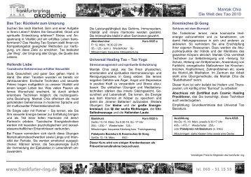 Mantak Chia - Die Welt des Tao - Ausbildung bei der frankfurter ring ...
