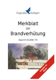 Merkblatt Brandverhütung - Flughafen Stuttgart