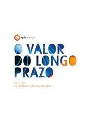 Relatório de Sustentabilidade 2005/2006 Download - Galp Energia