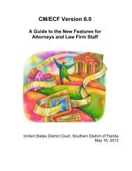 CM/ECF 6.0 – Attorney New Features Guide - United States District ...
