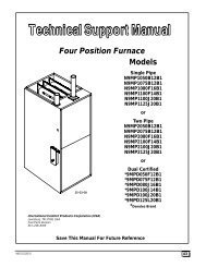 Models Four Position Furnace - Fox Appliance Parts of Macon, Inc.