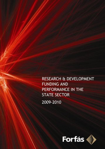 RD Funding and Performance in State Sector 2009-2010 - Forfás