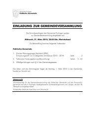einladung zur gemeindeversammlung - Gemeinde Flurlingen