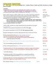 2010 Code Timeline - Florida Building Code Information System