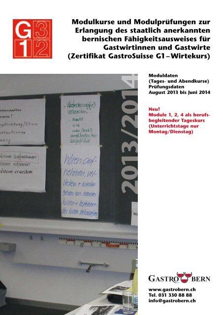Kurs- und Prüfungsdaten 2013/14 - GastroBern