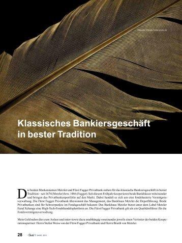 Presseartikel - FÜRST FUGGER Privatbank