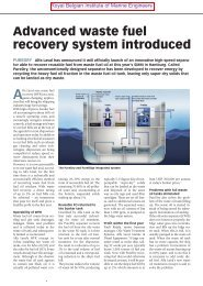 Advanced waste fuel recovery system introduced