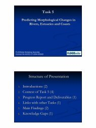 Task 5 Structure of Presentation - FLOODsite