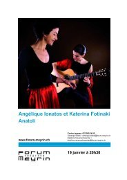 Angélique Ionatos et Katerina Fotinaki Anatoli - Forum-Meyrin