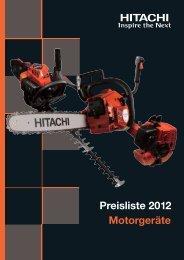 Motorgeräte Preisliste 2012 - Frank Drucklufttechnik