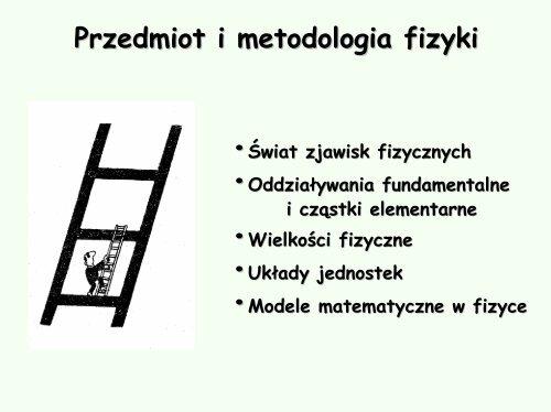 Przedmiot i metodologia fizyki