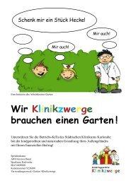 Wir Klinikzwerge brauchen einen Garten ! - AWO Karlsruhe