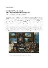 obras maestras en el mas. cinco siglos de imágenes en amberes.