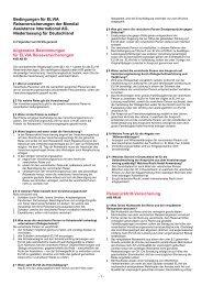 Bedingungen für ELVIA Reiseversicherungen - Eberhardt Travel ...